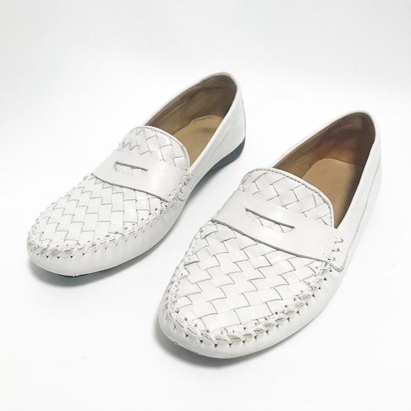 6adde8e2f4917 Robert Zur. Petra white woven loafer. Size 9